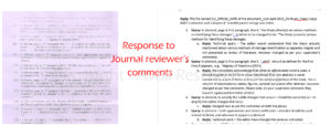 Response to Journal reviewer