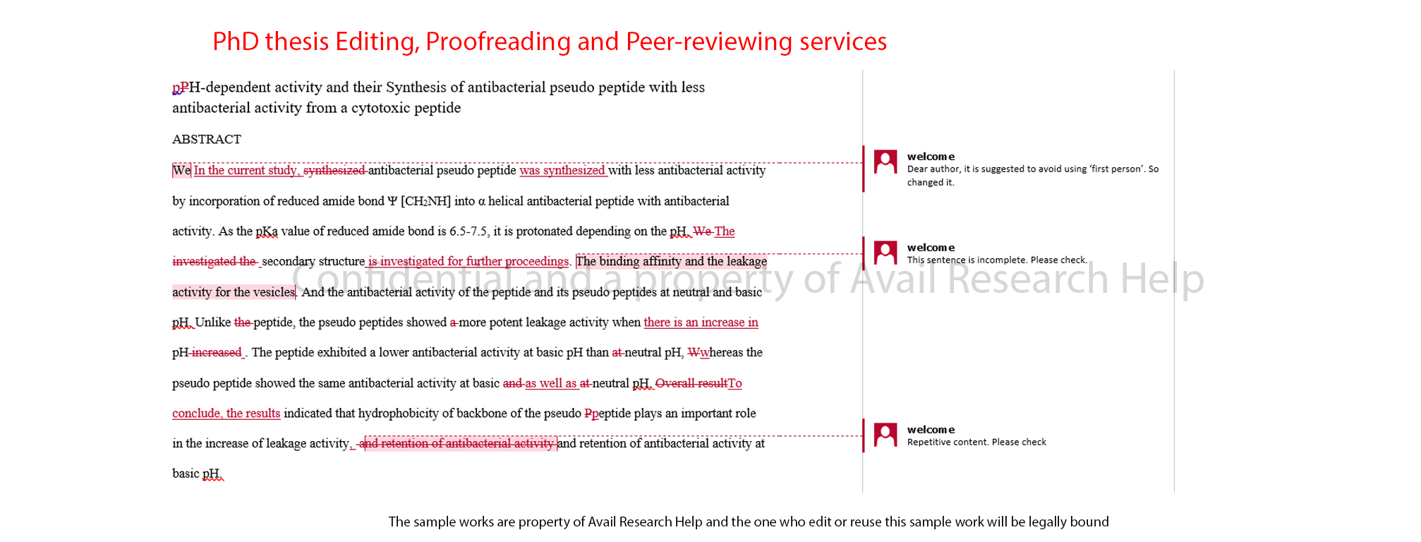proofreading dissertations